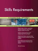 Skills Requirements A Complete Guide - 2019 Edition
