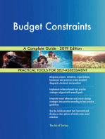 Budget Constraints A Complete Guide - 2019 Edition