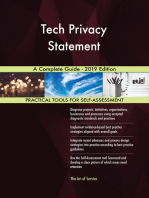 Tech Privacy Statement A Complete Guide - 2019 Edition