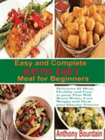 Easy and Complete Keto Diet Meal for Beginners