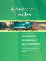 Authentication Procedure A Complete Guide - 2019 Edition