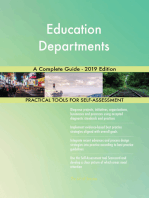 Education Departments A Complete Guide - 2019 Edition
