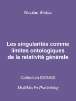 Les singularités comme limites ontologiques de la relativité générale