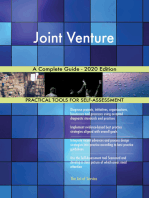 Joint Venture A Complete Guide - 2020 Edition