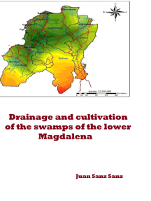 Drainage and cultivation of the swamps of the lower Magdalena