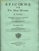 Epicoene or, The Silent Woman