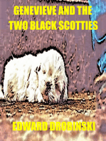 Genevieve and the Two Black Scotties