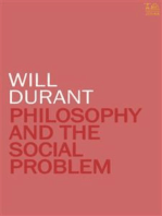 Philosophy and The Social Problem