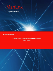 Exam Prep for:: China Auto Parts Producers Directory