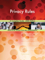 Privacy Rules A Complete Guide - 2020 Edition