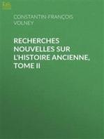Oeuvres, Tome V Recherches nouvelles sur l'histoire ancienne