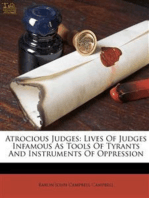 Lives of Judges Infamous as Tools of Tyrants and Instruments of Oppression