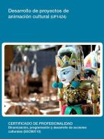 UF1424 - Desarrollo de proyectos de animación cultural