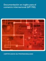 UF1765 - Documentación en inglés para el comercio internacional