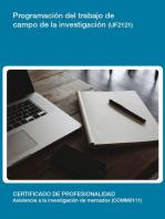 UF2121 - Programación del trabajo de campo de la investigación