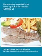 MF0295_2 - Almacenaje y expedición de carne y productos cárnicos