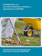 UF0008 - Instalaciones, su acondicionamiento, limpieza y desinfección