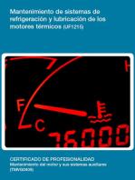 UF1215 - Mantenimiento de sistemas de refrigeración y lubricación de los motores térmicos