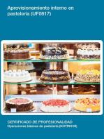 UF0817 - Aprovisionamiento interno en pastelería