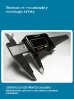 UF1213 - Técnicas de mecanizado y metrología