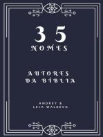 35 nomes - Autores da Biblia