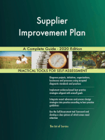 Supplier Improvement Plan A Complete Guide - 2020 Edition