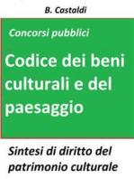 Il Codice dei beni culturali e del paesaggio per concorsi pubblici