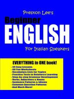 Preston Lee's Beginner English For Italian Speakers