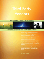 Third Party Vendors A Complete Guide - 2020 Edition