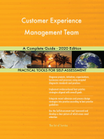 Customer Experience Management Team A Complete Guide - 2020 Edition