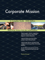 Corporate Mission A Complete Guide - 2020 Edition