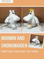 Moomin and Snorkmaiden Crochet Pattern