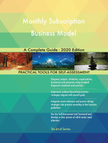 Monthly Subscription Business Model A Complete Guide - 2020 Edition