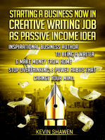 Starting a Business Now in Creative Writing Job as Passive Income Idea