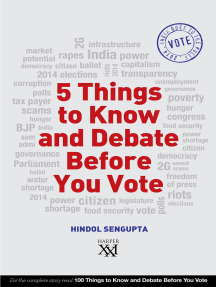 5 Things to Know and Debate Before You Vote
