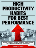 High Productivity Habits For Best Performance