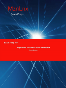 Exam Prep for:: Argentina Business Law Handbook