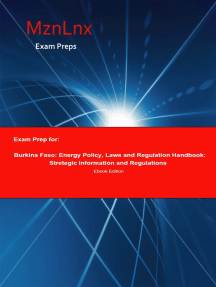 Exam Prep for:: Burkina Faso: Energy Policy, Laws and Regulation Handbook: Strategic Information and Regulations