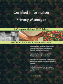 Certified Information Privacy Manager A Complete Guide - 2020 Edition