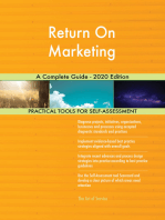 Return On Marketing A Complete Guide - 2020 Edition