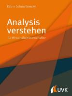 Analysis verstehen: für Wirschaftswissenschaftler