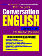 Preston Lee's Conversation English For Korean Speakers Lesson 1