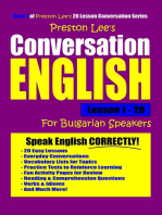 Preston Lee's Conversation English For Bulgarian Speakers Lesson 1