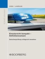 Einsatzrecht kompakt - Definitionswissen für die Fachausbildung