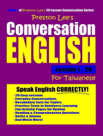 Preston Lee's Conversation English For Taiwanese Lesson 1