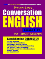 Preston Lee's Conversation English For Turkish Speakers Lesson 1