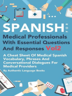 Spanish for Medical Professionals With Essential Questions and Responses Vol 2