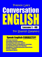 Preston Lee's Conversation English For Spanish Speakers Lesson 1