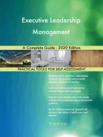 Executive Leadership Management A Complete Guide - 2020 Edition