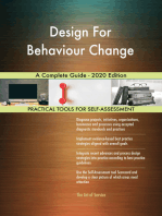 Design For Behaviour Change A Complete Guide - 2020 Edition